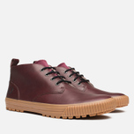 Fred Perry Bramhall Mid Shoes Oxblood photo- 1