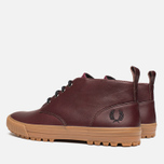 Fred Perry Bramhall Mid Shoes Oxblood photo- 2