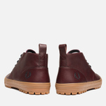 Fred Perry Bramhall Mid Shoes Oxblood photo- 3