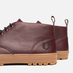 Fred Perry Bramhall Mid Shoes Oxblood photo- 6