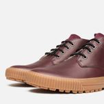 Fred Perry Bramhall Mid Shoes Oxblood photo- 5