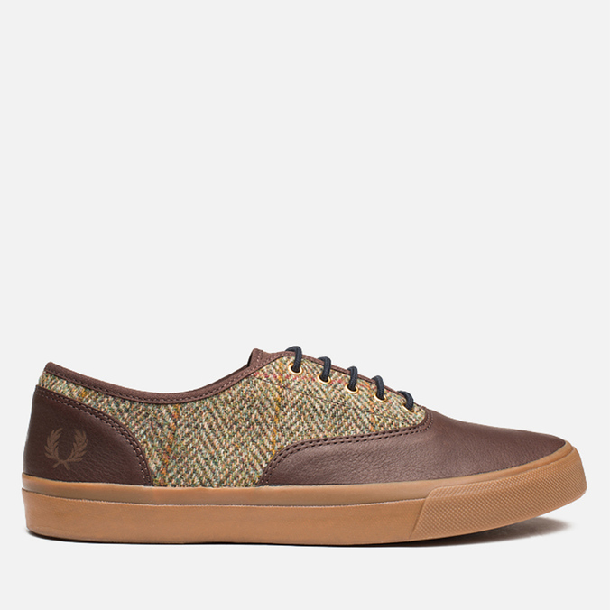 Fred Perry Clarence Plimsoles Dark Chocolate