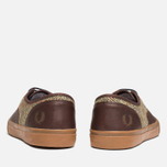 Fred Perry Clarence Plimsoles Dark Chocolate photo- 3