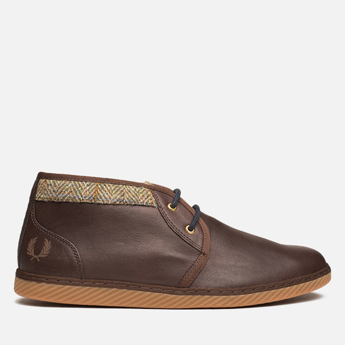 Fred Perry Claxton Shoes Dark Chocolate