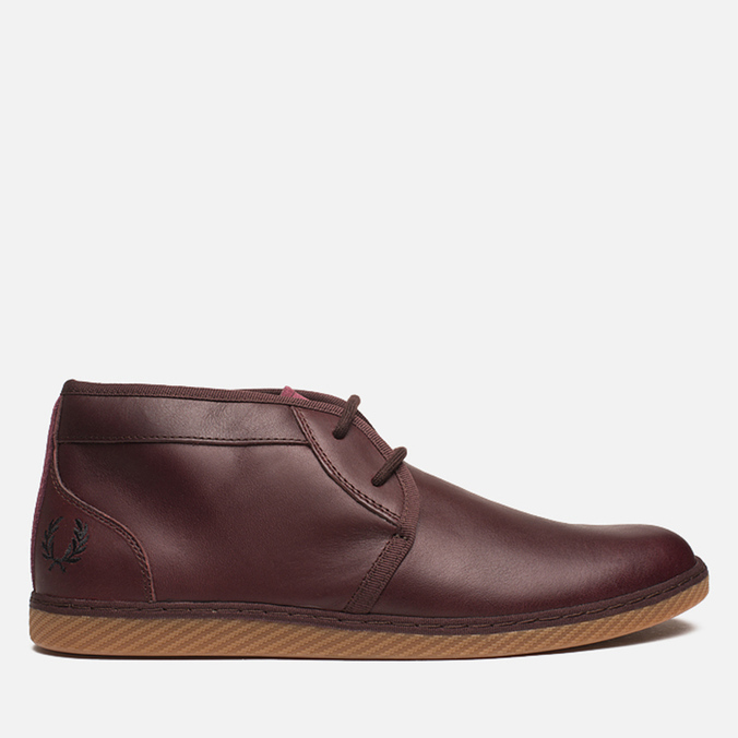 Fred Perry Claxton Shoes Mid Oxblood