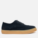 Fred Perry Davies Shoes Suede Navy photo- 0