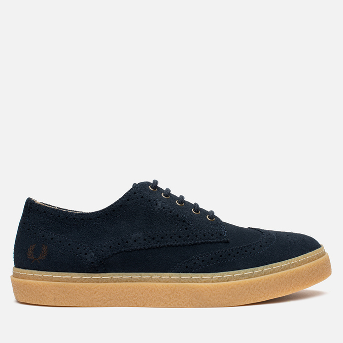 Fred Perry Davies Shoes Suede Navy
