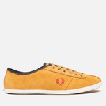 Мужские кеды Fred Perry Hayes Unlined Suede Dark Gold фото- 0
