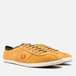 Мужские кеды Fred Perry Hayes Unlined Suede Dark Gold фото- 1