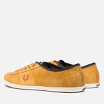 Мужские кеды Fred Perry Hayes Unlined Suede Dark Gold фото- 2