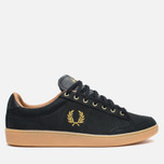 Fred Perry Hopman Nubuck Plimsoles 1935 Black photo- 0