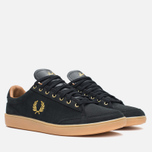 Fred Perry Hopman Nubuck Plimsoles 1935 Black photo- 1