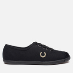 Женские кеды Fred Perry Laurel Table Tennis Canvas Black фото- 0