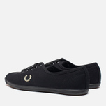 Женские кеды Fred Perry Laurel Table Tennis Canvas Black фото- 2