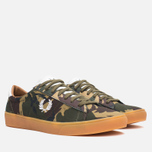 Мужские кеды Fred Perry Spencer Camo Canvas British Olive фото- 1