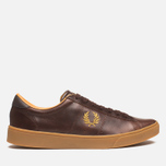 Fred Perry Spencer Plimsoles Dark Chocolate photo- 0