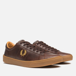 Fred Perry Spencer Plimsoles Dark Chocolate photo- 1