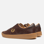 Fred Perry Spencer Plimsoles Dark Chocolate photo- 2
