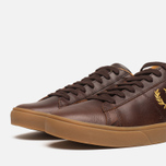 Fred Perry Spencer Plimsoles Dark Chocolate photo- 5