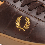 Fred Perry Spencer Plimsoles Dark Chocolate photo- 7