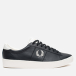 Fred Perry Spencer Leather Men's Plimsoles Black photo- 0