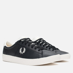 Fred Perry Spencer Leather Men's Plimsoles Black photo- 1