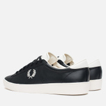Fred Perry Spencer Leather Men's Plimsoles Black photo- 2