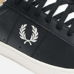 Fred Perry Spencer Leather Men's Plimsoles Black photo- 5