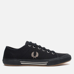 Fred Perry Vintage Tennis Canvas Men's Plimsoles Black photo- 0