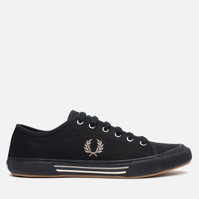 Fred Perry Vintage Tennis Canvas Men's Plimsoles Black