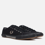 Fred Perry Vintage Tennis Canvas Men's Plimsoles Black photo- 1
