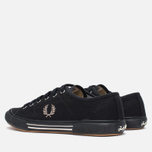 Fred Perry Vintage Tennis Canvas Men's Plimsoles Black photo- 2