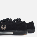 Fred Perry Vintage Tennis Canvas Men's Plimsoles Black photo- 7