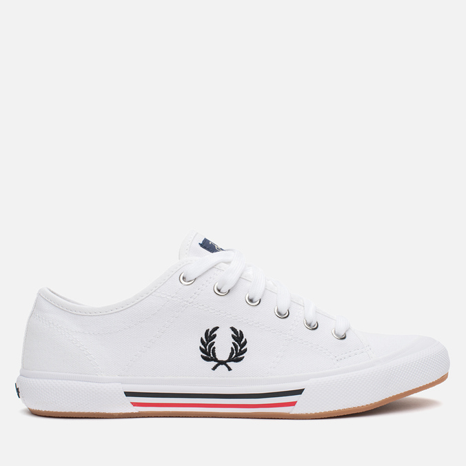 Мужские кеды Fred Perry Vintage Tennis Canvas White