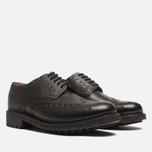 Мужские ботинки броги Grenson Archie Brogue Black фото- 1