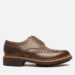 Мужские ботинки Grenson Archie Brogue Dark Brown фото- 0