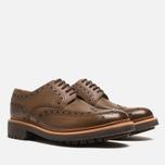 Мужские ботинки Grenson Archie Brogue Dark Brown фото- 1
