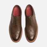 Мужские ботинки Grenson Archie Brogue Dark Brown фото- 4