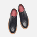 Grenson Archie V Brogue Men's Shoes Black photo- 4