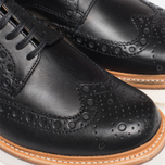 Grenson Archie V Brogue Men's Shoes Black photo- 8