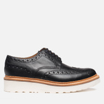 Grenson Archie V Brogue Men's Shoes Black photo- 0