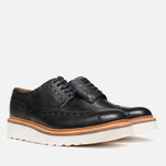 Grenson Archie V Brogue Men's Shoes Black photo- 1