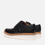 Grenson Archie V Brogue Men's Shoes Black photo- 2