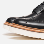 Grenson Archie V Brogue Men's Shoes Black photo- 5