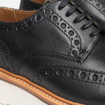 Grenson Archie V Brogue Men's Shoes Black photo- 7