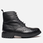 Мужские ботинки Grenson Fred Commando Sole Brogue Derby Boot Alpine Grain Black фото- 0