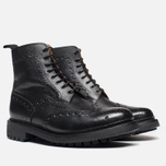 Мужские ботинки Grenson Fred Commando Sole Brogue Derby Boot Alpine Grain Black фото- 1