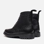 Мужские ботинки Grenson Fred Commando Sole Brogue Derby Boot Alpine Grain Black фото- 2
