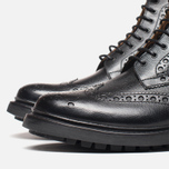Мужские ботинки Grenson Fred Commando Sole Brogue Derby Boot Alpine Grain Black фото- 5
