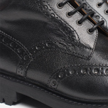 Мужские ботинки Grenson Fred Commando Sole Brogue Derby Boot Alpine Grain Black фото- 7